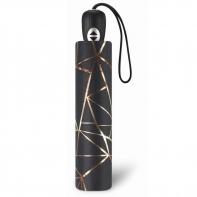 Ekskluzywna automatyczna parasolka damska Pierre Cardin, złote trójkąty