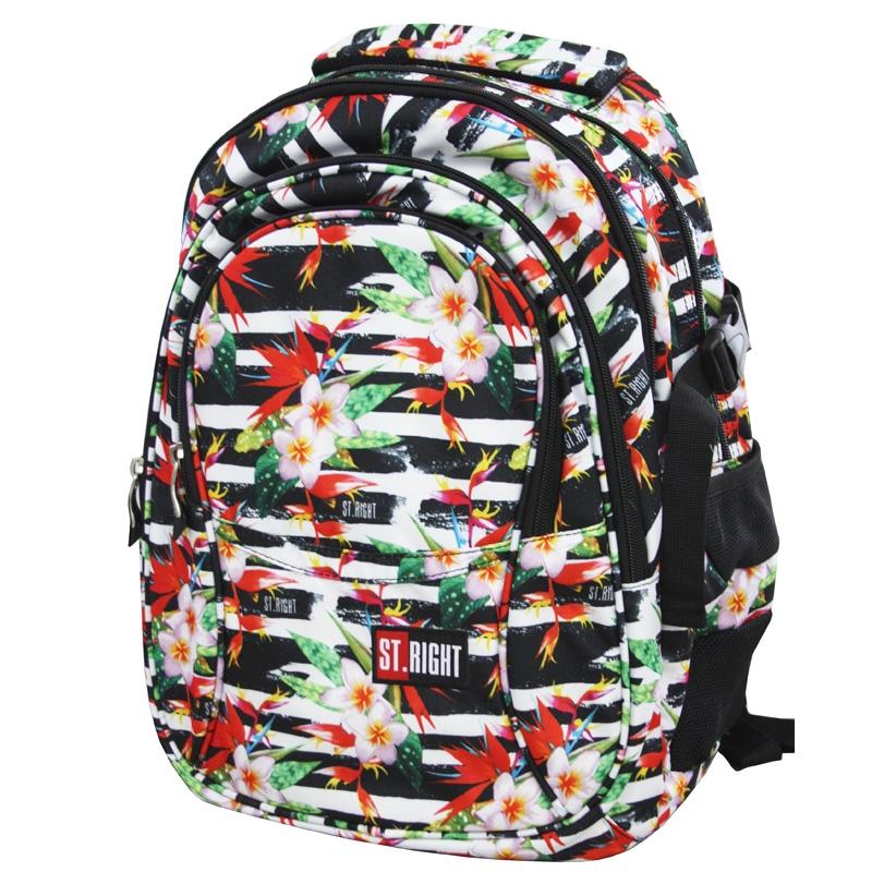 0bd6d2ca5eac0 Trzykomorowy plecak szkolny St.Right 29 L, Tropical Stripes BP1