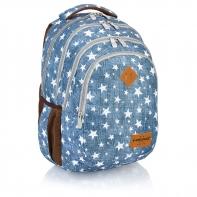 Plecak szkolny Astra Head HD-109, niebieski w gwiazdki