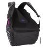 Plecak szkolny młodzieżowy Bagmaster trzykomorowy czarny ze wstawkami