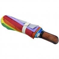 Krótka automatyczna parasolka damska - tęcza