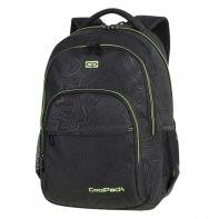 Młodzieżowy plecak szkolny Basic Plus 27L, Topography Yellow A150