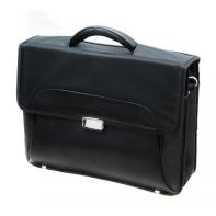 Dwukomorowa teczka PUCCINI CMA3402 czarna, idealna na laptopa