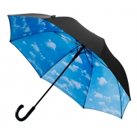 Duża parasolka z motywem chmurek
