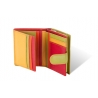 Kolorowy niewielki portfel damski Valentini, czerwony, zielony + inne