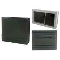 Samsonite: skórzany portfel męski i etui na wizytówki - zestaw