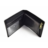 Poziomy portfel męski marki Peterson z ukrytymi kartami, czarny RFID