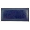 Długi portfel damski Peterson, RFID, granatowy