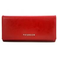 Długi portfel damski Peterson, czerwony 490_3