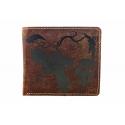 Mały męski portfel Always Wild ze skóry nubukowej, brązowy
