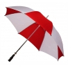 Bardzo duża wytrzymała damska parasolka biało czerwona