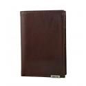 Skórzany klasyczny portfel męski Valentini, brązowy