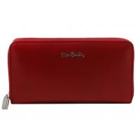 Skórzany portfel typu saszetka Pierre Cardin w kolorze czerwonym