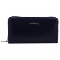 Skórzany portfel typu saszetka Pierre Cardin ciemnogranatowy