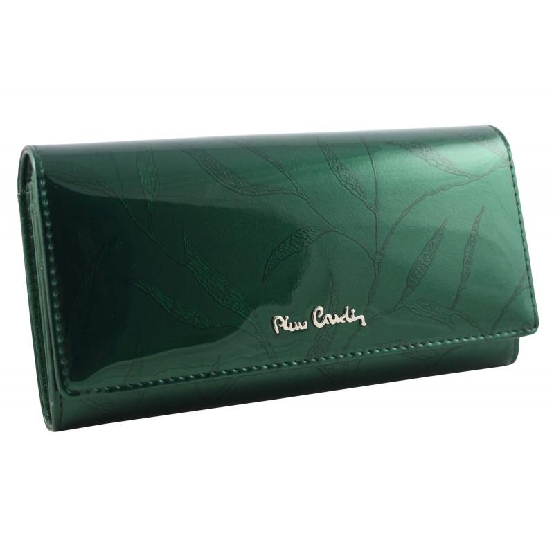 2ba4754a66b22 Lakierowany skórzany portfel damski Pierre Cardin