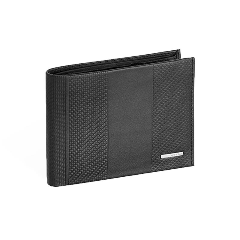 bc7021a597398 Męski poziomy skórzany portfel Valentini