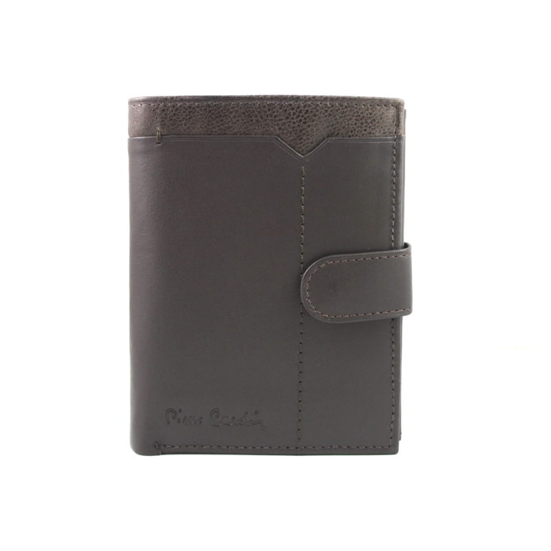 88e7037d113a8 Męski portfel + pasek Pierre Cardin skórzany exclusiv zestaw prezentowy,  brązowy