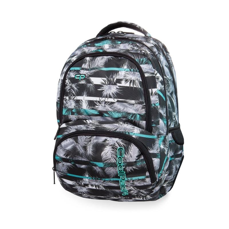 2220ab47225a0 Młodzieżowy plecak szkolny CoolPack Spiner 27L, Palm Trees Mint, B01004