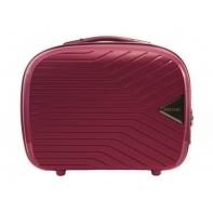 Kosmetyczka kuferek Puccini PPQM014 w kolorze różowym
