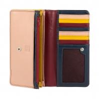 Skórzany portfel damski saszetka DuDu®, 534-1162 burgundowy