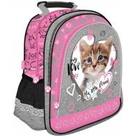 Plecak szkolny dla dziewczynki My Little Friend, Kot różowy