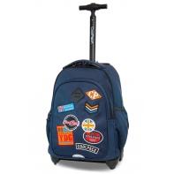 Plecak szkolny na kółkach CoolPack Junior 24 L, Badges Blue