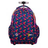Trzykomorowy plecak na kółkach St.Right 34 L, Rainbow Birds TB1