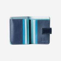 aecb3083f159d Skórzany mały portfel damski marki DuDu®, niebieski
