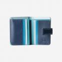 Skórzany mały portfel damski DuDu®, niebieski