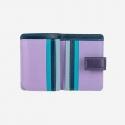 Skórzany mały portfel damski marki DuDu®, fioletowy + niebieski