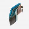 Skórzany mały portfel damski marki DuDu®, ciemny brąz
