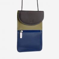 Skórzany portfel damski turystyczny na szyje marki DuDu®, oliwkowy