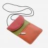 Skórzany portfel damski turystyczny na szyje marki DuDu®, czerwony