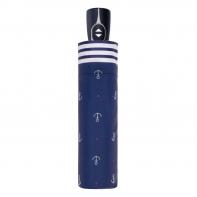 Bardzo mocna automatyczna parasolka Doppler, niebieska w kotwice
