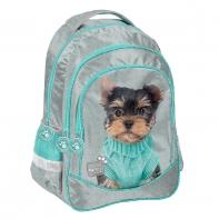 Plecak szkolny dla dziewczynki Paso, york w sweterku