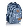Plecak szkolny Astra Head HD-345, dżinsowy w strzałki