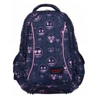 Dwukomorowy plecak szkolny St.Majewski 19 L, Emoji Pink BP26