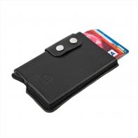 Usztywnione etui na karty RFID Orsatti w kolorze czarnym
