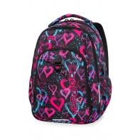 Lekki plecak szkolny CoolPack Strike L 27 L, Drawing Hearts B18038