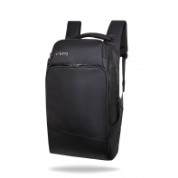 "Plecak męski na laptopa 13-15,6"" + USB, R-bag Forge Black"