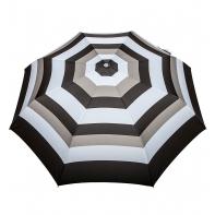 Automatyczna parasolka damska marki Parasol, czarno-beżowe paski