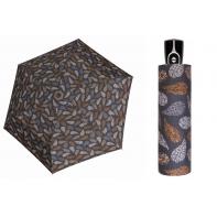 Automatyczna bardzo mocna parasolka damska Doppler, szara w liście