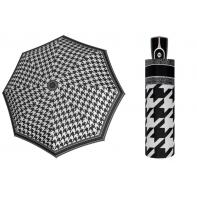 Automatyczna bardzo mocna parasolka damska Doppler, czarno-biała BW03