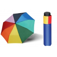 Lekka damska parasolka Doppler Derby - tęcza
