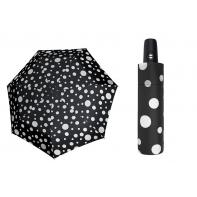 Automatyczna mocna parasolka Doppler Derby - czarna w grochy