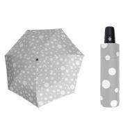 Automatyczna mocna parasolka Doppler Derby - szara w grochy