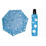 Automatyczna mocna parasolka Doppler Derby - niebieska w grochy