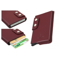 Usztywnione etui na karty RFID Orsatti brązowe