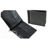 Skórzany mały portfel banknotówka Orsatti czarny