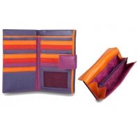 Bardzo duży skórzany portfel damski DuDu®, 534-1186 fuksja